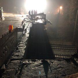 Rückbau Brückenkappen in der Nachtschicht