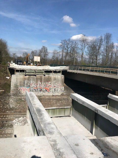2.Bauabschnitt Brückendemontage – Zusatzauftrag vom AG