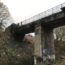 Eisenbahnbrückendemontage in Werne
